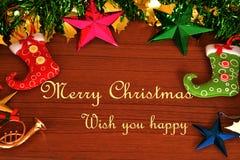 Buon Natale fondo, cartolina d'auguri Immagine Stock Libera da Diritti