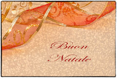 Buon Natale Greeting Card Royalty Free Stock Images