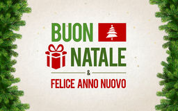 Buon Natale Greeting Card Royalty Free Stock Image