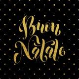 Buon Natale greeting. Italian Merry Christmas Stock Photo