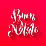 Buon Natale greeting. Italian Merry Christmas Royalty Free Stock Image