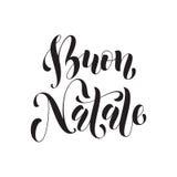 Buon Natale greeting. Italian Merry Christmas Stock Image