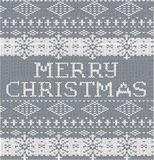 Buon Natale grigio Fotografie Stock Libere da Diritti