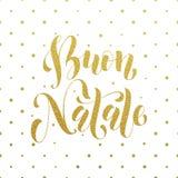Buon Natale hälsning Italiensk glad jul Arkivfoton