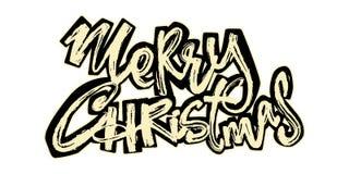 Buon Natale Iscrizione disegnata a mano di festa di Natale royalty illustrazione gratis