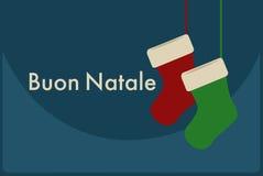 Buon Natale italienare glad jul Arkivfoto