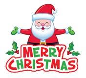 Buon Natale Jolly Santa Claus Banner fotografia stock libera da diritti