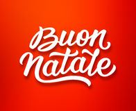 Buon Natale lettering in italian. Christmas card Royalty Free Stock Image