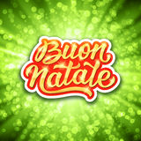 Buon Natale lettering. Merry Christmas in italian Royalty Free Stock Photos