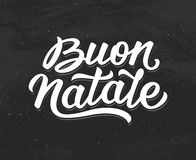 Buon Natale lettering. Merry Christmas in italian Royalty Free Stock Image