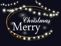 Buon Natale luci Fotografia Stock Libera da Diritti