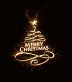 Buon Natale luminoso che accoglie con il testo Fotografia Stock Libera da Diritti