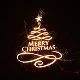 Buon Natale luminoso che accoglie con il testo Fotografie Stock Libere da Diritti