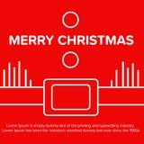 Buon Natale Manifesto rosso di Santa Claus, insegna Fotografia Stock Libera da Diritti