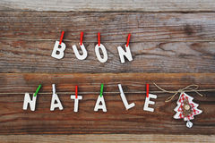 Buon natale - merry christmas Royalty Free Stock Photography