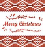Buon Natale Modello tricottato stile scandinavo Immagine Stock