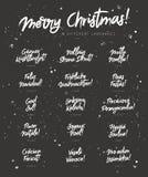 Buon Natale nei linguaggi differenti illustrazione di stock