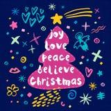 Buon Natale Nuovo anno felice Fotografia Stock Libera da Diritti