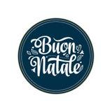 Buon Natale 2007 pozdrowienia karty szczęśliwych nowego roku Bożenarodzeniowy szablon Zima wakacje w Włochy Gratulacje na włoszcz Zdjęcie Stock