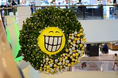 Buon Natale Rama9 centrale a Bangkok Tailandia fotografie stock