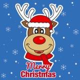 Buon Natale renna illustrazione di stock