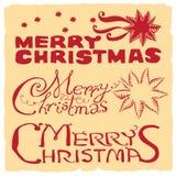 Buon Natale rosso & giallo Fotografie Stock Libere da Diritti