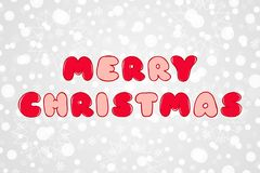 Buon Natale rosso ed illustrazione rosa di schizzo di vettore Modello di vacanza invernale Fondo decorativo con i fiocchi di neve Immagini Stock Libere da Diritti