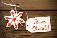 Buon Natale, saludos italianos de la Navidad Fotografía de archivo libre de regalías