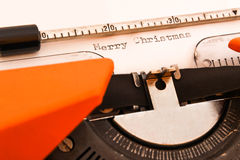 Buon Natale su typewritter fotografie stock