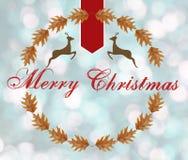 Buon Natale sul fondo blu del bokeh Immagini Stock Libere da Diritti