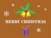 Buon Natale sul muro di mattoni Immagini Stock
