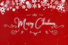 Buon Natale sulla cartolina d'auguri Fotografia Stock Libera da Diritti