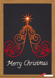 Buon Natale sulla lavagna Fotografie Stock