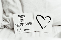 Buon san valentino, happy valentines day in italian Stock Image