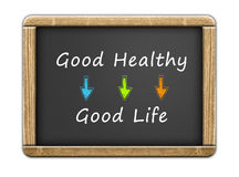 Buon sano - buona vita Fotografie Stock
