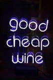Buon vino economico immagine stock