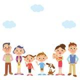 Buona famiglia dell'amico Fotografia Stock