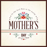 Buona Festa della Mamma carta illustrazione di stock