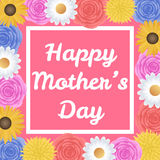 Buona Festa della Mamma fondo con il bello fiore variopinto illustrazione di stock