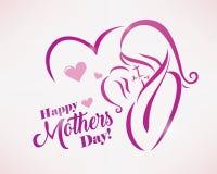 Buona Festa della Mamma modello della cartolina d'auguri illustrazione di stock