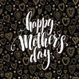 Buona Festa della Mamma saluto della lavagna Progettazione di iscrizione e di calligrafia Illustrazione di vettore illustrazione di stock