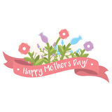 Buona Festa della Mamma saluto floreale immagini stock libere da diritti