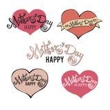 Buona Festa della Mamma segnando Calligrafia fatta a mano Fotografie Stock Libere da Diritti