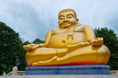 Buona fortuna Buddha sorridente, stile cinese Fotografie Stock