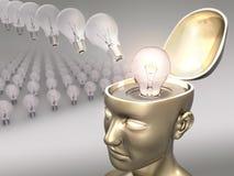 Buona idea (lampadina) Fotografia Stock