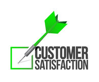 Buona illustrazione di concetto di servizio di assistenza al cliente dell'obiettivo Fotografie Stock