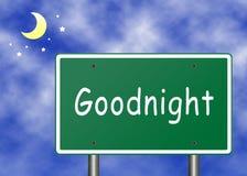 Buona notte concetto Immagini Stock