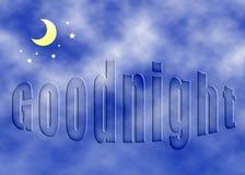 Buona notte concetto Immagini Stock Libere da Diritti