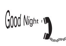 Buona notte - vettore Fotografia Stock Libera da Diritti