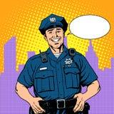 Buona polizia del poliziotto illustrazione vettoriale
